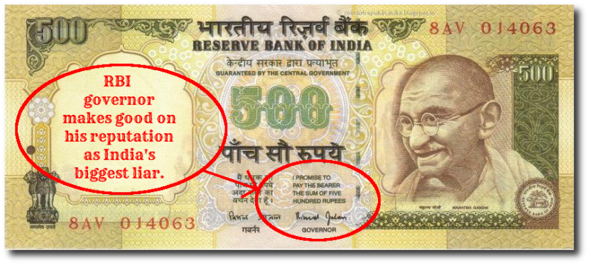 What used to be a joke is now reality, thanks to Modi's demonetization jumla.