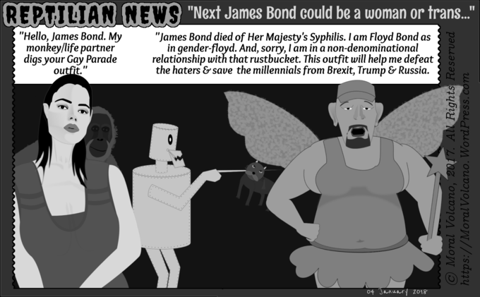 Reptilian News - How the next James Bond is going to be