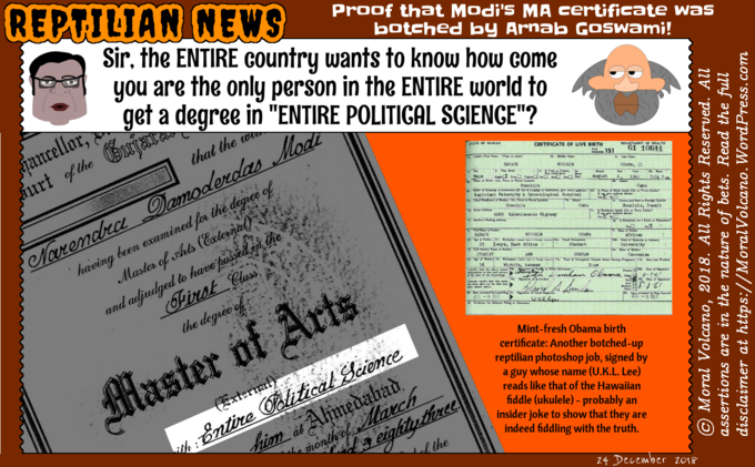 Modi's fake MA degree in ENTIRE POLITICAL SCIENCE