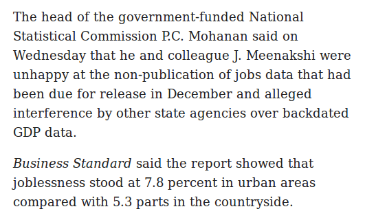 Live Mint report says Modi govt suppressed unemployment data