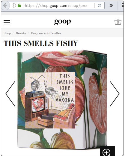 Gwenyth Paltrow vagina-scented candle
