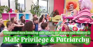 Hashtag Male Privilege and Patriachy is Trans Men invading children's safe spaces and women