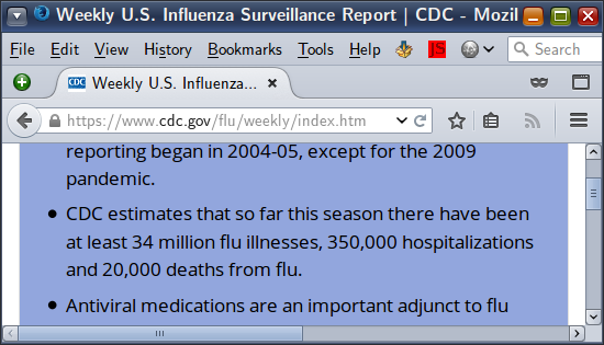 Screenshot-Weekly-U-S-Influenza-Surveillance-Report-CDC
