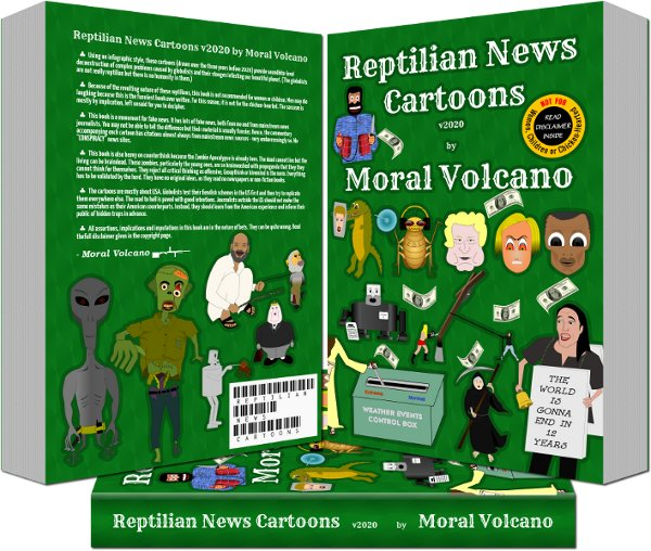 Full-color edition of Reptilian News Cartoons