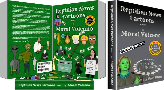 Reptilian News Cartoons paperbacks