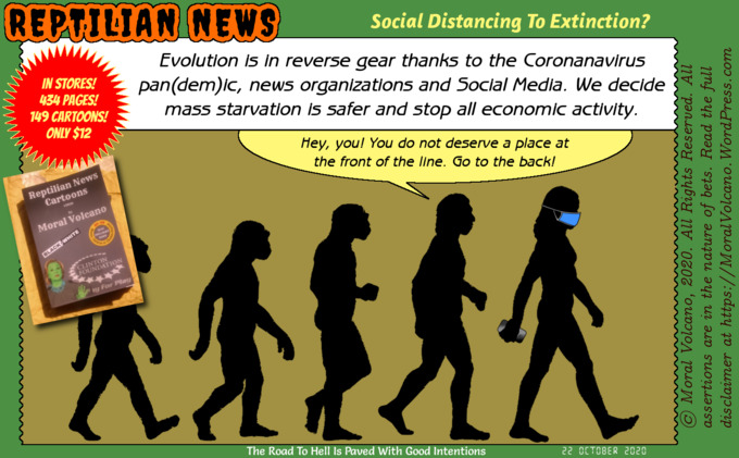 Reptilian News Cartoon by Moral Volcano